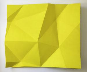 paper fold yellow