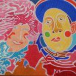 Elsa et son Pierrot Peinture de Henri LANDIER 2016 65x92 cm Prix : 14 000 €