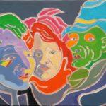 Les inconnus du carnaval Peinture de Henri LANDIER 2016 50x65 cm Prix : 8 000 €