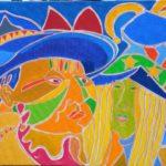 Jan et Alexandra Peinture de Henri LANDIER 2016 65x92 cm Prix : 12 500 €