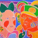 Boucles d'or et le bouffon Peinture de Henri LANDIER 2016 73x92 cm Prix : 13 000 €