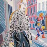 Le lapin gris Peinture de Henri LANDIER 2019 116x81 cm Prix : 16 000 €
