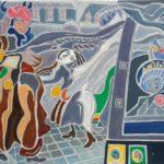 Le food-truck du Markt Peinture de Henri LANDIER 2019 89x116 cm Prix : 16 000 €