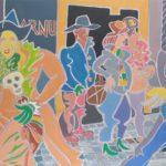 Le pickpocket Peinture de Henri LANDIER 2019 89x130 cm Prix : 20 000 €