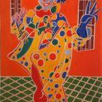 La clown de Maastricht Peinture de Henri LANDIER 2019 130x81 cm Prix : 19 000 €