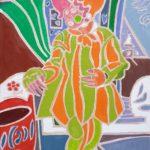 Jan au carnaval Peinture de Henri LANDIER 2020 65x46 cm Prix : 7 500 €