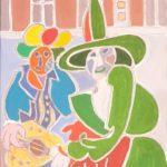 La fée verte et le guitariste Peinture de Henri LANDIER 2020 39x29 cm Prix : 3 800 €