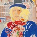 Béatrice au chapeau bleu Peinture de Henri LANDIER 2019 41x33 cm Prix : 4 900 €