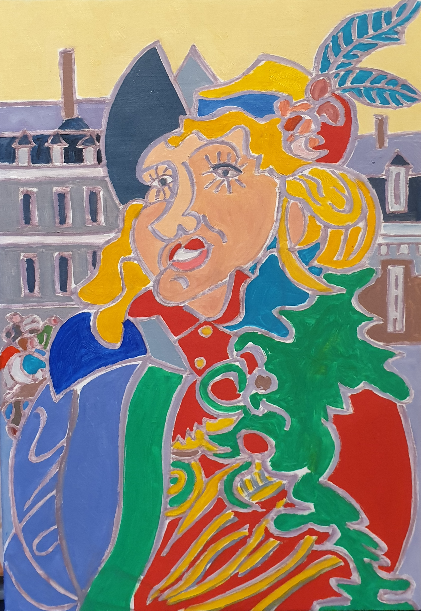 Jeanne de Maastricht Peinture de Henri LANDIER 2020 55x38 cm Prix : 5 800 €