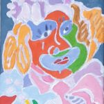 Le travesti du carnaval Peinture de Henri LANDIER 2020 24x16 cm Prix : 2 000 €