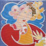 Amélie Peinture de Henri LANDIER 2019 32,5x32,5 cm Prix : 3 600 €