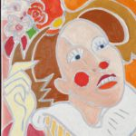 Emma la clown Peinture de Henri LANDIER 2020 41x33 cm Prix : 4 600 €