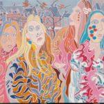 Le quatuor du carnaval de Maastricht Peinture de Henri LANDIER 2019 97x130 cm Prix : 22 000 €