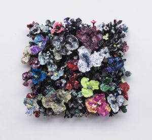 'Flower Bonanza' black 115x115x30cm